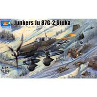 pesawat Ju 87G-2 Stuka 1/32 model kit trumpeter