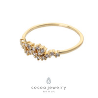 Cocoa Jewelry Cincin Skinny Crown Gold Color