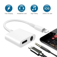 Converter 2in1 Lightning to Audio 3.5mm Charging/Dual Converter Iphone