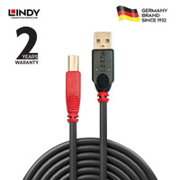 LINDY #42763 USB2.0 Active Extension Cable A/B, 20m