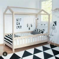 tempat tidur anak minimalis simpel putih cantik kamar dipan elegant