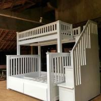 dipan tingkat white duco , tempat tidur , dipan atap kamar anak