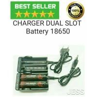 Authentic AWT Charger Dual Slot Baterai Dekstop Vape Battery 18650
