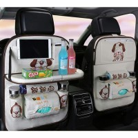 Car Seat Organizer Jok Mobil Multifungsi Karakter Premium Dengan Meja - Dog