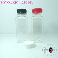 botol kale kotak 250 ml / botol plastik 250 ml