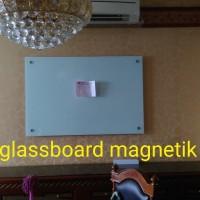 papan tulis kaca white board magnetik 120 x 160