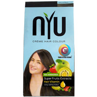 NYU Cat Rambut Natural Black Creme Hair Colour