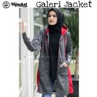 Hijacket Avia Original HJ-AVA DARK GREY Jacket Wanita Muslimah Hijab