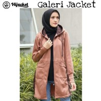 Hijacket Avia Original HJ-AVA BROWN Jacket Wanita Muslimah Jaket Hijab
