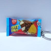 miniatur Snack /Gantungan kunci unik /miniatur makanan snack/es krim