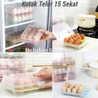Tempat Penyimpan Telur 15 Sekat / Egg Storage Box