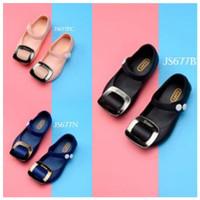 SPT21 - jelly shoes kotak sepatu anak cewek perempuan flat shoes