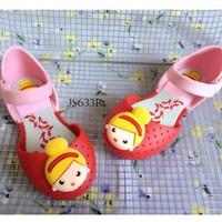SPT17 - sepatu jelly princess flat shoes anak cewek perempuan walker -