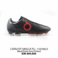 Sepatu bola ortuseight Catalyst oracle fg black red