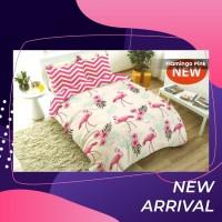 Sprei motif flamingo burung flamboyan uk 120 x 200 motif flamingo pink