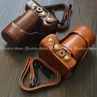 Terbaru Canon EOS M10 Leather Bag / Case / Tas Kamera Kulit 15-45 /