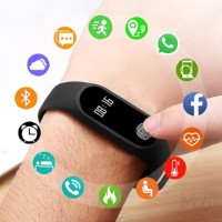 Bader Smart Watch Ip67 Waterproof Kebugaran Tracker Led Sentuh Layar