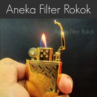 Korek Api Gas Biasa dengan Batu Api   Regular Flame Lighter with Flint