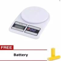 [400gr] E24 Timbangan Dapur Digital 10kg sf-400 free batre