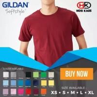 Kaos Polos Gildan - Softstyle 63000 Setara Cotton Combed 30's
