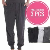 Promo hemat 3pcs - Celana Jogger Jumbo - Size XL