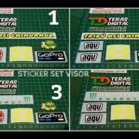 Termurah Sticker Set Visor Helm Agv Bisa Tukar Logo Kbc Kyt Nhk Shoei