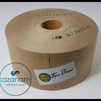 "Unit Terlaris Lakban Air 2"" Inch X 100M Gummed Paper Craft Tape Tiger"