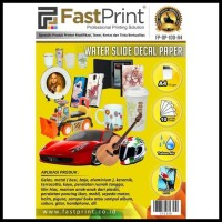 Barang Laris Fast Print Kertas Water Slide Decal Paper Ukuran A4 100