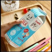 Unit Bagus Kotak Pensil Bentuk Kotak Susu / Milk Tempat Alat Tulis