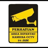 Item Real Picture Sign Keamanan Cctv Sticker Hotel Restoran Kantor