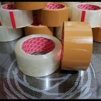 Barang Berkualitas Lakban Bening & Coklat 48 Mm X 90 Yard Full