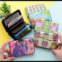 Produk Hot Sale Owl Dompet / Tempat Kartu Card Holder Gambar Owl