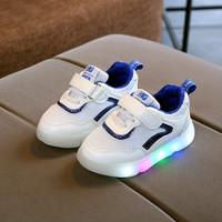Sepatu Anak Led Perempuan Laki MG Baby Sport Kualitas Import Wrna Biru