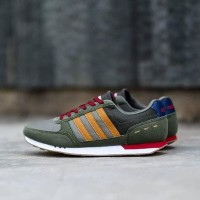 Good Quality Sepatu Pria Adidas Neo City Racer Green Brown Original