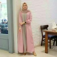 Pakaian Baju Busana Muslim Wanita Long Dress ZOE Gamis Syari Terbaru