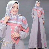 Pakaian Baju Busana Muslim Wanita Long Dress YULIA Gamis Terbaru
