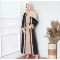 Busana Muslim Wanita Dress Maxi MAUNA ABAYA Gamis Syari Terbaru