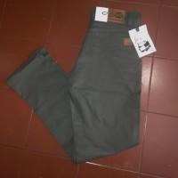 Celana Chino Panjang Pria Abu tua / Dark grey
