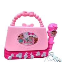 Mainan Anak Perempuan Microphone Music Bag LOL Surprise Tas Mic 2023A