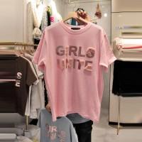 Aute Season New Pink Cotton Short-sleeved T-shirt Women's