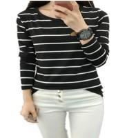 Aute Casual Women Loose Striped Long Sleeve