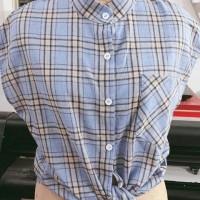 Aute Lin Shanshan Sleeveless Plaid Shirt Women's Season New Net