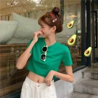 Aute New Simple Solid Color Short T-shirt