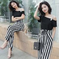 Aute The New Wave Dot Stripe Fashion Suit Was Thin High Waist