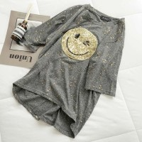 Aute Personality Sequin Short-sleeved T-shirt Female New Loose