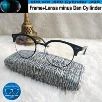 kacamata moscot half frame gratis lensa supershine minus dan normal