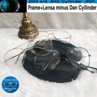 kacamata frame aviator gratis lensa supershine minus dan normal