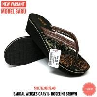 sendal wedges Carvil - sandal wedges wanita - original