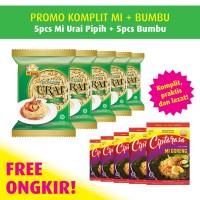 Mi Urai Pipih Promo Pack Free Bumbu Ciptarasa (5 pcs)