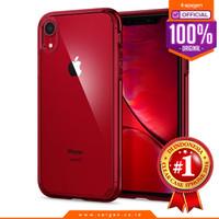 iPhone XS Max / XS / X / XR Case Spigen Clear Anti Shock Ultra Hybrid - Red, XR
